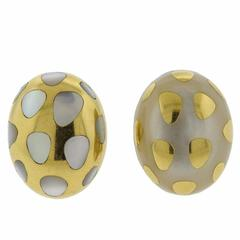 Tiffany & Co. Positive Negative Mother-of-Pearl Gold Earrings