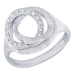 Marco Bicego 0.14 Carat Round Brilliant Cut Diamond White Gold Ring