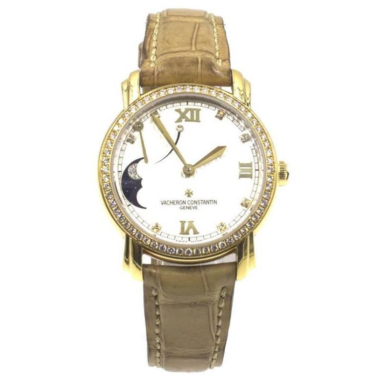 Vacheron Constantin Ladies Yellow Gold Diamond Malte Power Reserve Wristwatch