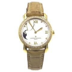 Vacheron Constantin Ladies 18K Yellow Gold Diamond Malte Power Reserve Watch