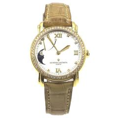 Vacheron Constantin Ladies Yellow Gold Diamond Malte Power Reserve Wristwatch