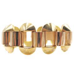 Retro Two Color Gold Bracelet