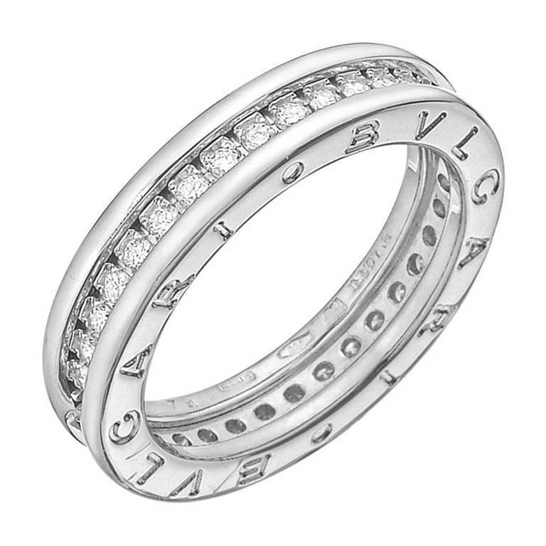 bulgari white gold bzero1 1 band ring at 1stdibs