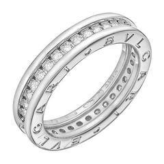 Bulgari White Gold Diamond BZero1 1-Band Ring