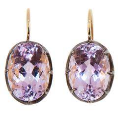 Laura Munder Kunzite Sterling Yellow Gold Earring