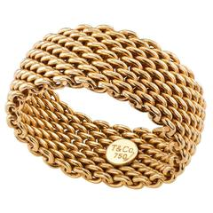 Tiffany & Co. Woven Gold Ring Band