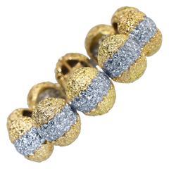 1970s Cartier Diamond and Gold Bracelet