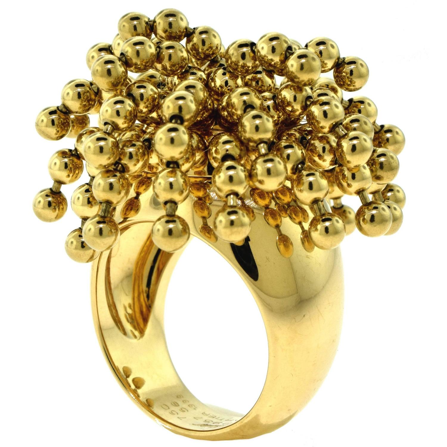 Yafa signed jewels new york ny 1stdibs page 4 - Cartier Yellow Gold Nouvelle Vague Perruque Wig Ring