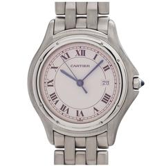 Cartier Stainless Steel Cougar Quartz Wristwatch circa 1980s