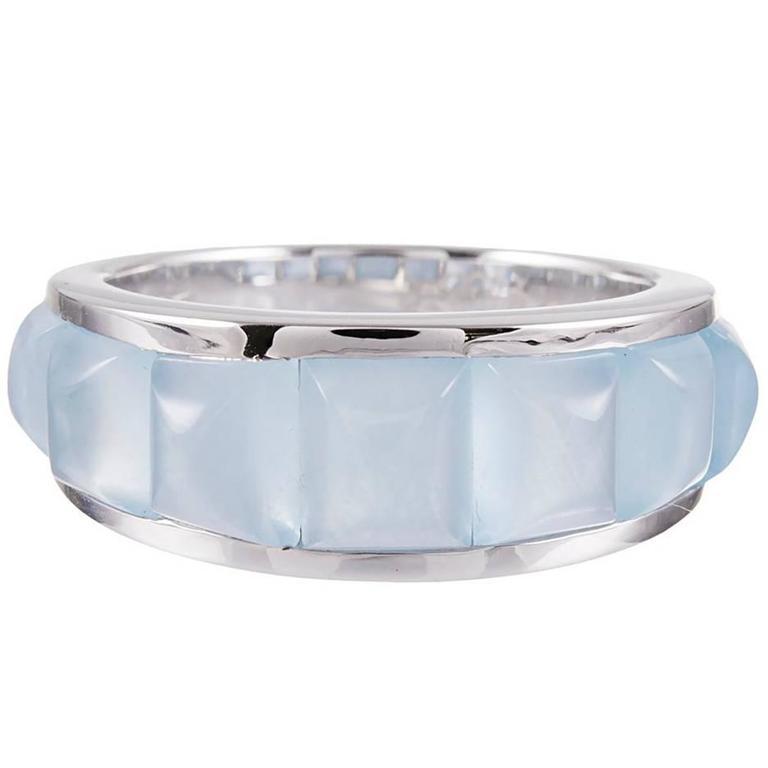 Seaman Schepps 7.25 Carat Aquamarine White Gold Ring