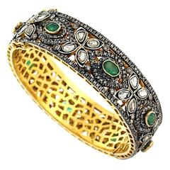 Diamond Emerald Bangle