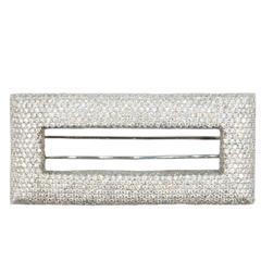 Laura Munder Pave' Diamond White Gold Brooch