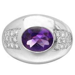 Mauboussin Amethyst Diamond Dome Ring