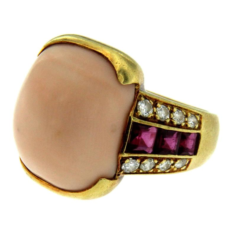 Ct Gold Coral Ring