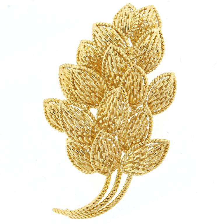 Van Cleef & Arpels Gold Leaf Brooch