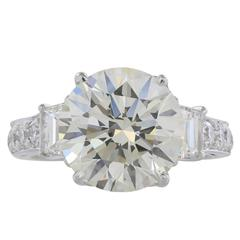 EGL Certified 5.75 Carat I/VS2 Diamond Ring