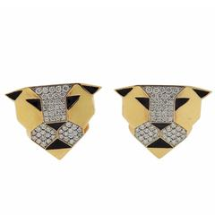 G. Bulgari Enigma Gold Diamond Panther Earrings
