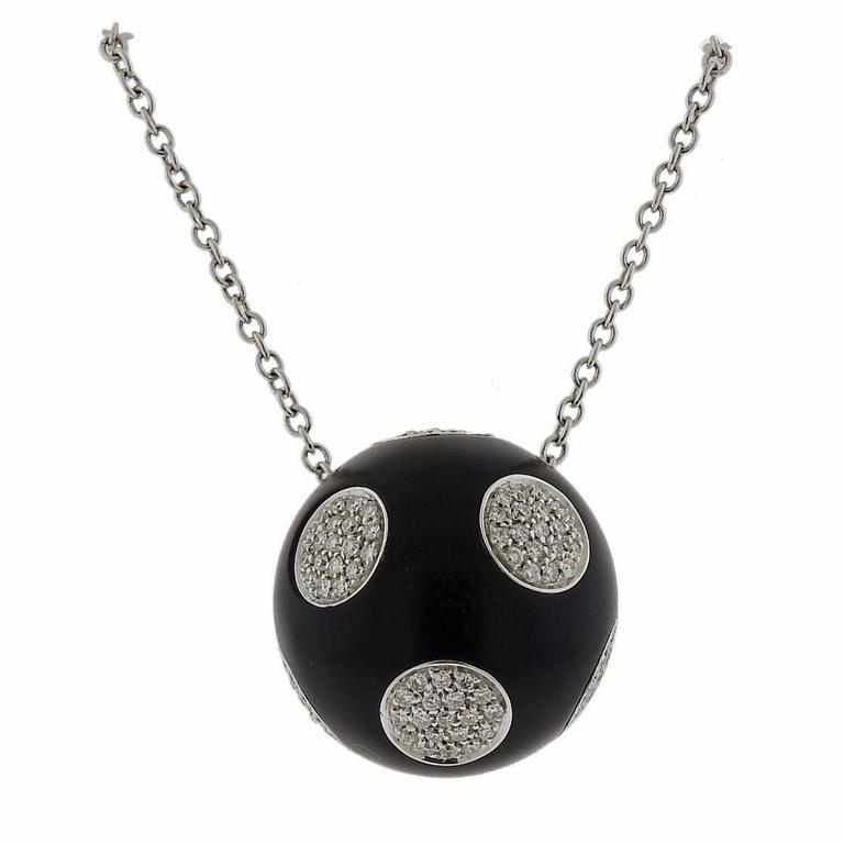 G bulgari enigma diamond gold jet pendant necklace at 1stdibs g bulgari enigma diamond gold jet pendant necklace for sale aloadofball Images