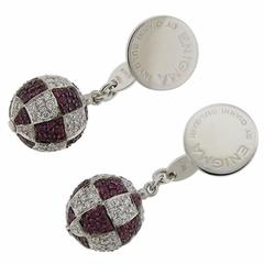 G. Bulgari Enigma Diamond Gold Ruby Cufflinks
