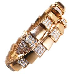 Bulgari Diamond and Rose Gold 'Serpenti' Bracelet