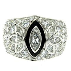 Onyx Diamond Gold Ring