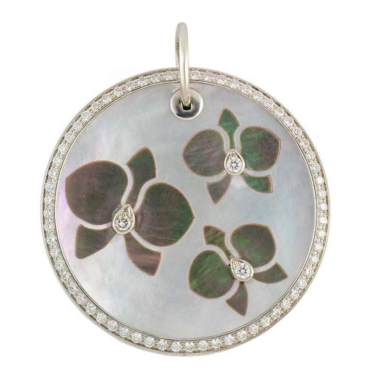 Cartier Caresse D'Orchidees Diamond Mother-of-Pearl Pendant
