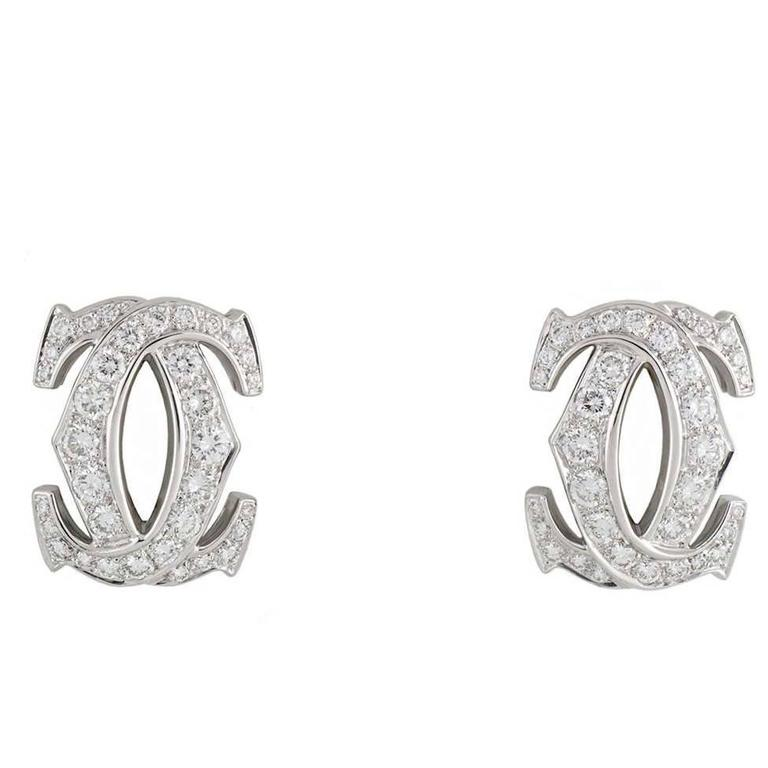 Cartier C de Cartier Diamond Earrings 1