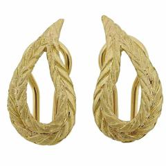 Buccellati Gold Open Teardrop Earrings