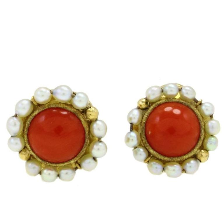 Luise Coral Pearl Earring
