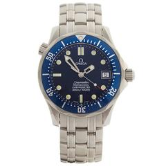 Omega Stainless Steel Seamaster Automatic Wristwatch