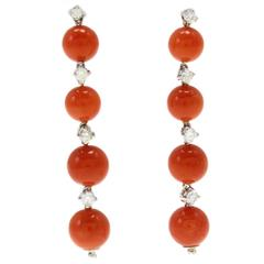 Luise Coral Diamond Earrings
