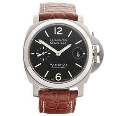 Panerai Stainless Steel Luminor Automatic Wristwatch