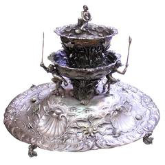 Silver Table Garden Fountain