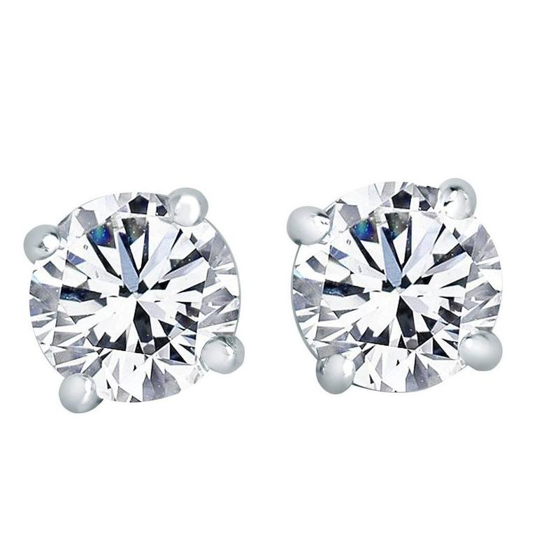 Diamond Stud Earrings 3.06 Carat