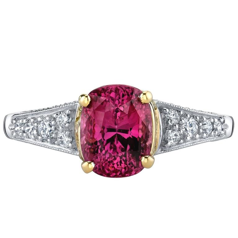 Ruby Diamond Platinum Gold Ring