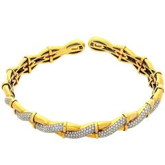 Boucheron Diamond Yellow Gold Choker Necklace