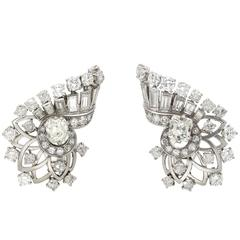 Boucheron Art Deco Diamond Platinum Earrings