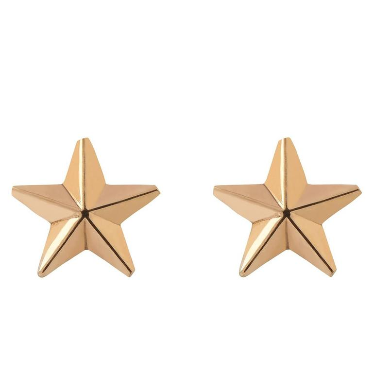 Zara Simon Gold Star Stud Earrings For