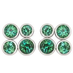 Colleen B. Rosenblat Tourmaline White Gold Earrings