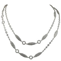 Diamond Platinum Long Chain