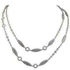Diamond Platinum Long Chain