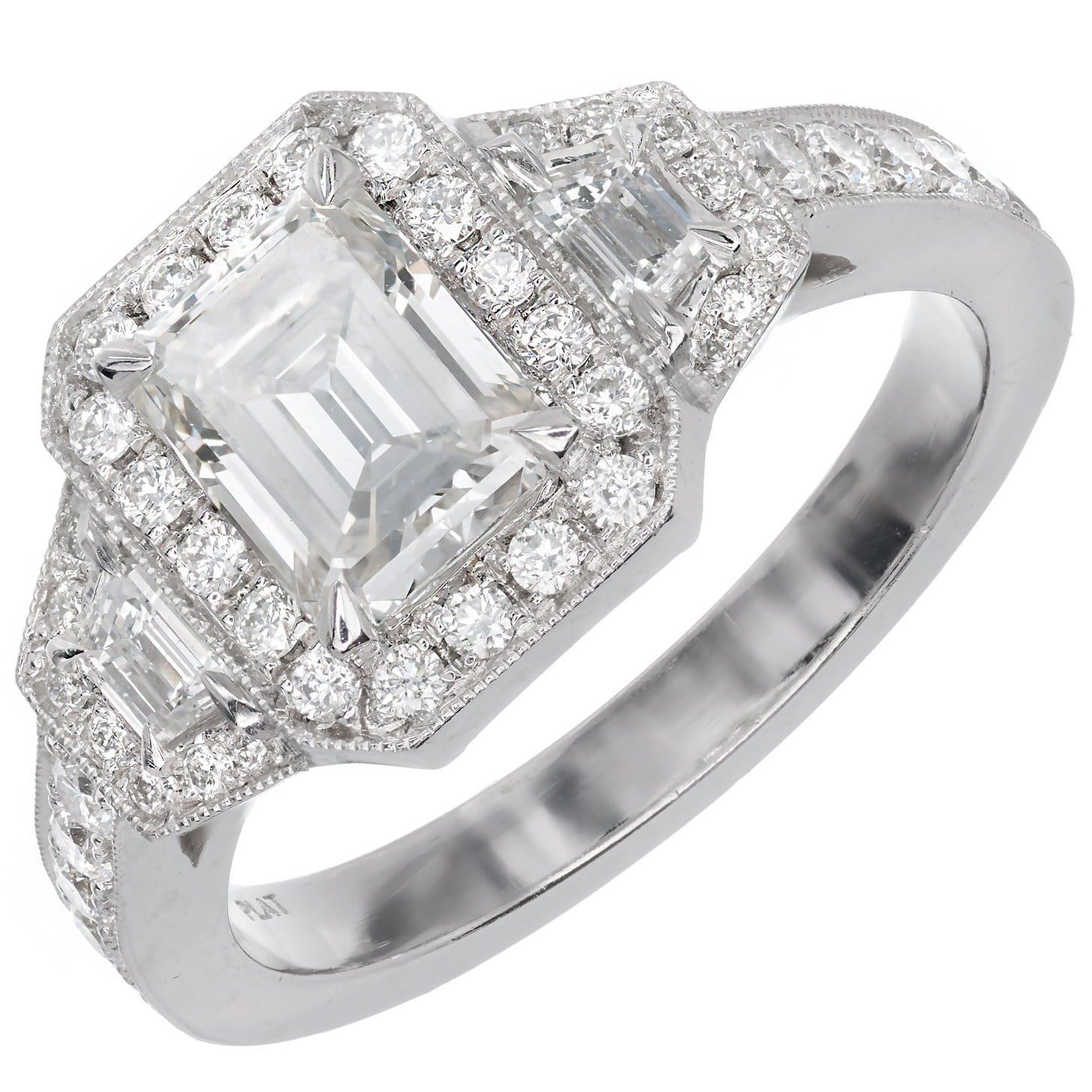 Peter Suchy 1.11 Carat GIA Certified Diamond Platinum Engagement Ring