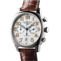 Longines Stainless Steel Spirit Automatic Chronograph Wristwatch Model L2.705.4
