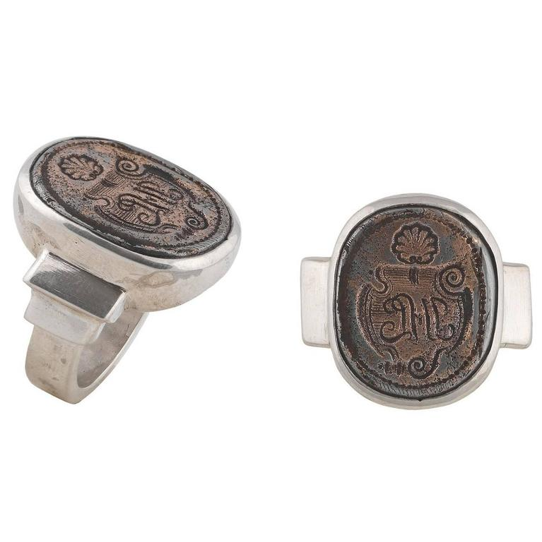 Antique 17th Century German Silver Signet Ring At 1stdibs
