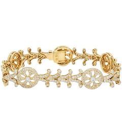 Diamond Yellow Gold Bracelet