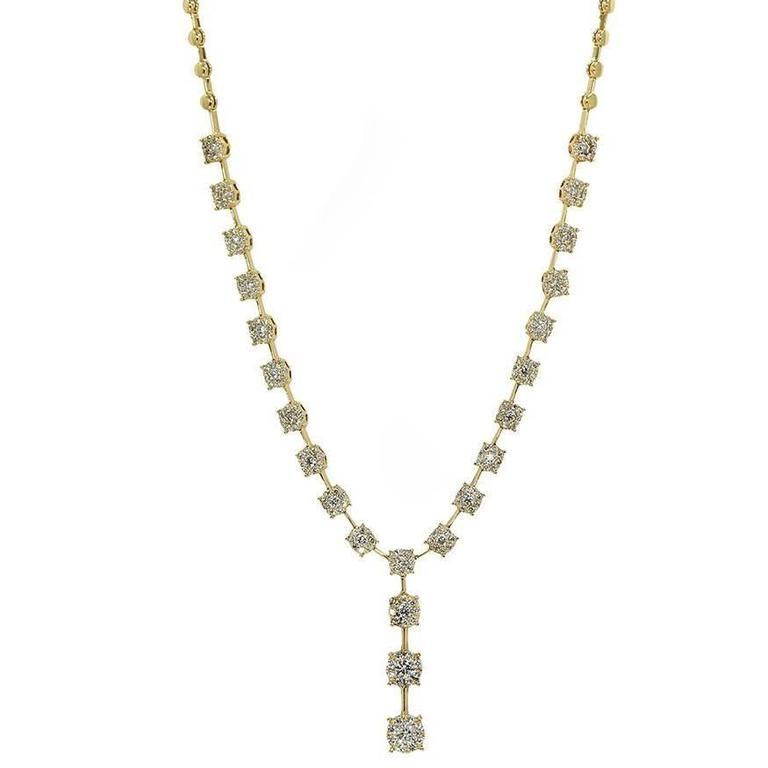Diamond Yellow Gold Necklace