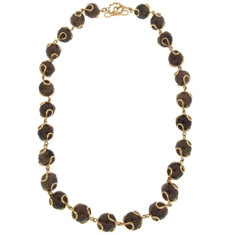 Carina Smokey Topaz Necklace