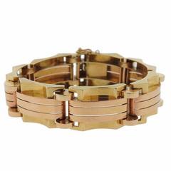 Iconic Retro Continental Gold Bracelet