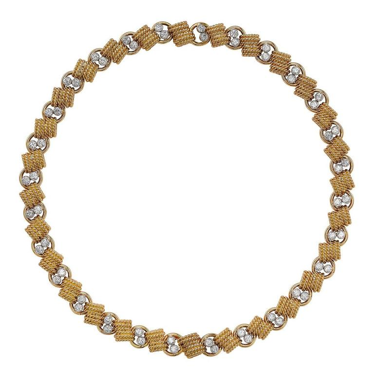 Van Cleef & Arpels Yellow Gold Brilliant Cut Diamond Necklace
