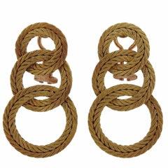 Buccellati Gold Triple Circle Earrings